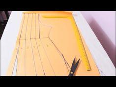 Annarkali Dress Cutting & Stitching In Tamil Anarkali Tops, Anarkali Frock, Churidhar Neck Designs, Kurti Neck Designs, Blouse Designs, Sewing Pants, Sewing Clothes, Easy Sewing Patterns, Sewing Tutorials