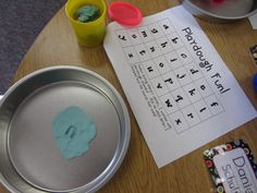Early literacy play doh center