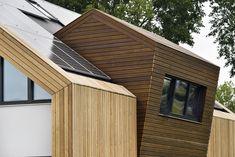 NarrativA architecten, gezond en modern ecologisch, biobased wonen Build My Own House, Garage Doors, Shed, Villa, Exterior, Outdoor Structures, Building, Outdoor Decor, Modern