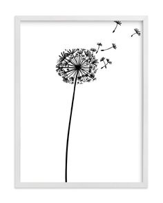 """""""dandelion"""" - Art Print by Yuke Li in beautiful frame options and a variety of sizes."""