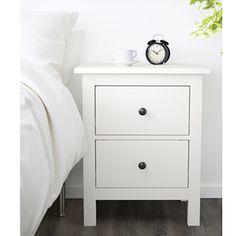 ikea hemnes commode avec 2 tiroirs blanc table de chevet armoire neuf