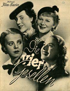 """¿Reconocen a la mujer de abajo a la derecha? Es Ingrid Bergman en el anuncio de la comedia que rodó en 1938 para la UFA, """"Die vier Gesellen"""". Pocos saben que la gran estrella sueca de """"Casablanca"""" también rodó una película para la Alemania nazi."""