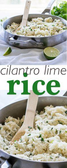 Super simple Cilantro Lime Rice, just like Cafe Rio!