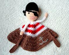 Pirate Lovey crochet amigurumi pdf pattern by AlaSascha on Etsy, $3.99