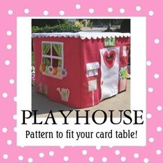 Card Table Playhouse Pattern, Deluxe Edition, Ebook Instant Download, Sew…