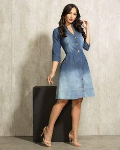 Fashions Women S Blouson Halter Crochet Dress Key: 3980675851 Modest Dresses, Casual Dresses, Fashion Dresses, Summer Dresses, Jeans Dress, Dress Skirt, Shirt Dress, Womens Denim Dress, Look Street Style