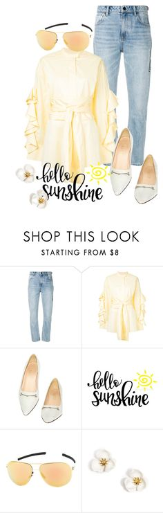 """""""A Little bit of of Sunshine"""" by faeryrain ❤ liked on Polyvore featuring Alexander Wang, E L L E R Y, Gucci, ic! Berlin, ruffles and RuffLyfe"""