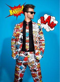 ¿Elegancia y discreción? ¡Da la nota con nuestro divertido traje de cómic! http://www.disfracessimon.com/disfraces-adultos/3689-traje-de-comic.html