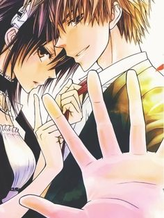 Top 10 Romance Anime || Usui and Misaki [Kaichou wa Maid Sama. Read: http://www.animedecoy.com/2016/02/top10romanceAnime.html ~
