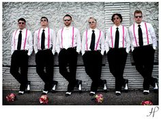 A splash of hot pink for these Groomsmen make this wedding SEXY!