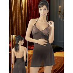 Cottelli sheer see through embroidered babydoll £16.99