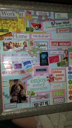 My first vision board...love it!