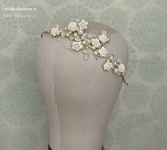SALE CAMELLIA Floral Wedding Headband. Bridal by LittleWillowandCo
