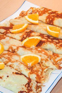Pandekager med appelsincreme opskrift Danish Dessert, Danish Food, Crepes And Waffles, Cook N, The Breakfast Club, Cake Toppings, Dessert Recipes, Desserts, Brunch