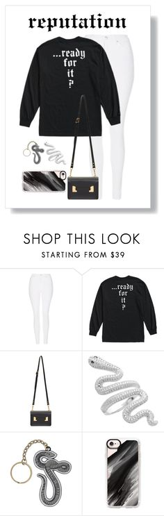 """""""Reputation Outfit"""" by abigailoberfoell ❤ liked on Polyvore featuring Topshop, Sophie Hulme and Casetify"""