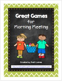 Morning Meeting or Social Skills games from Creating a Thoughtful Classroom: FREEBIE for Back to School!