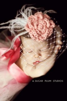 Pillbox hat prop for baby photography! A nice twist on the usual flower headbands.
