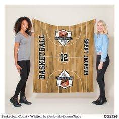 Basketball Court - White and Black Fleece Blanket Picnic In The Park, Edge Stitch, Outdoor Events, Basketball Court, Gift Ideas, Group, Blanket, Sports, Etsy