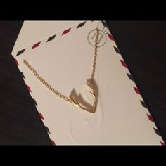 """Antlers necklace Gold tone antlers necklace with 16"""" chain and 2"""" extender Jewelry Necklaces"""
