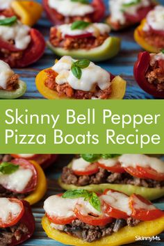 Skinny Bell Pepper Pizza Boats Healthy Dinner Options, Clean Eating Recipes For Dinner, Clean Eating Meal Plan, Clean Eating Snacks, Pizza Recipes, Low Carb Recipes, Healthy Recipes, Healthy Meals, Healthy Life