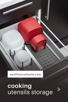 Creative Ways to Organize Cooking Utensils Not sure how to store your kitchen utensils? These organization ideas for your kitchen tools will have you cookin' up a storm in no time.