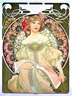 "Alphonse Mucha ~ Click through the large version for a full-screen view (with a black background in Firefox), set your computer for full-screen. ~ Miks' Pics ""Alphonse Mucha"" board @ http://www.pinterest.com/msmgish/alphonse-mucha/"