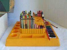 Vintage Crayola Crayon Caddy Art Supply Holder Binney & Smith w/box   eBay