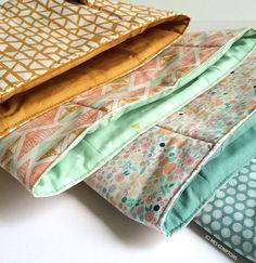 Panier de rangement en tissu Mes Comptoirs SUR COMMANDE // PERSONNALISABLE // BRODERIE EN OPTION