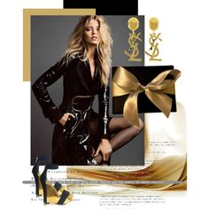 Paris by ludmila-petrova on Polyvore featuring mode, Balmain and Yves Saint Laurent