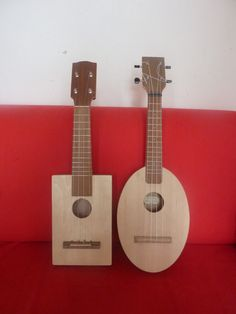 my two handmade ukuleles...