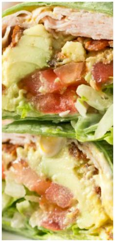 California Turkey Club Wrap with turkey, bacon, avocado, tomato and lettuce. A healthy and delicious balanced lunch! This is one of my favorite lunches. Sandwiches just taste better in a wrap! Turkey Recipes, Lunch Recipes, Gourmet Recipes, Keto Recipes, Dinner Recipes, Cooking Recipes, Healthy Recipes, Sweet Recipes, Healthy Food Delivery