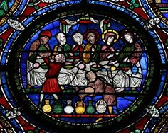 Canterbury Cathedral - The Wedding at Cana in the Third Typological Window.