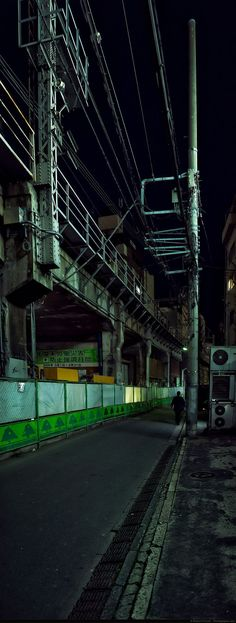 Really Japan - Discover the Real Japan - No Postcard Photos - Vertical panorama of a lonely street Japan Street, Urban Industrial, City Aesthetic, Ghost In The Shell, Japan Photo, Concrete Jungle, Urban Life, Modern Landscaping, Imagines