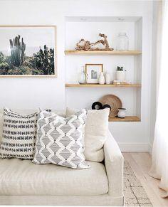 desert chic neutral living room
