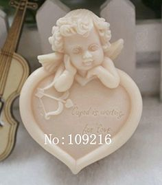 Creativemoldstore 1pcs Love Angel (zx67) Craft Art Silicone Soap Mold Craft Molds DIY Handmade Soap Mould *** Be sure to check out this awesome product.