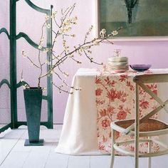 dining room with decorative spring