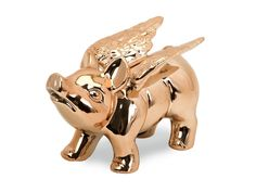 When Pigs Fly Piggy Bank - Copper