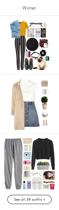 """""""Winter."""" by bunnyghostcity ❤ liked on Polyvore featuring Topshop, Dr. Martens, Monki, Georgia Perry, American Apparel, Essie, Keepsake the Label, Anita & Green, Boohoo and mel"""