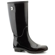 Ugg Australia  Shaye Tall Rainboots ($80) ❤ liked on Polyvore featuring shoes, boots, tall boots, tall rain boots, ugg, ugg boots and rubber boots