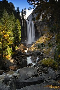 Vernal Fall, Yosemite National Park, California.I want to go see this place one day.Please check out my website thanks. www.photopix.co.nz