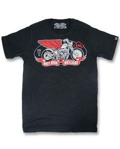 Hotrod Hellcat Herren MC T-Shirts.Tattoo,Oldschool,Biker,Rockabilly,Custom Style