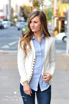 long button cardigan