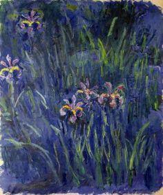 oilpaintinggallery:    Oil painting: Irises 2  Artist: Claude Monet