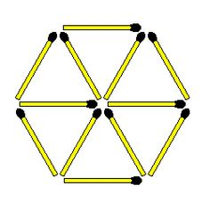 Matchstick Puzzles: 578. Remove 3 leaving 3 triangles