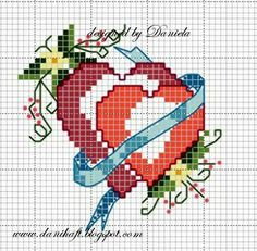 Cross stitch - wedding danihaft.blogspot.com