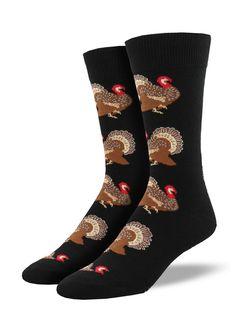 Men's Turkeys Socks (Black) http://ss1.us/a/44N6K3qL