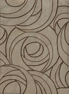 For MBR.  Charles Rennie Macintosh rose pattern rug.