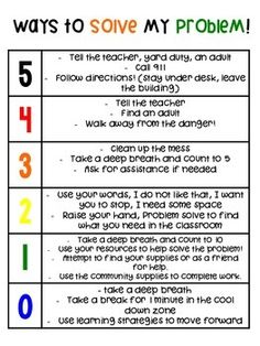 How Big is My Problem? Behavior Chart by Crunch Time Teaching with Mrs B Behavior Interventions, Behaviour Chart, Teaching Social Skills, Social Emotional Learning, Classroom Behavior, Classroom Management, Behavior Management, Coping Skills, Life Skills