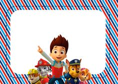Paw Patrol: Free Printable Invitations.