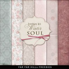 New Freebies Kit of Backgrounds - Winter Soul